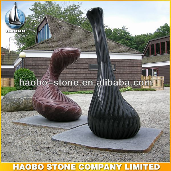 Haobo Wholesale Black Red Granite Stone Art Sculpture