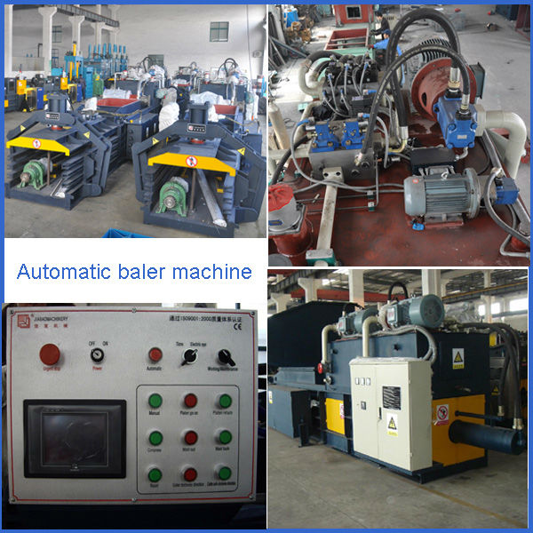 full-automatic waste paper and cardboard baler machine with CE approved