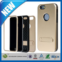 C&T Combo Hybrid Defender High Impact Kickstand Hard Pc & Silicone Case for IPhone 6 3 in 1 case