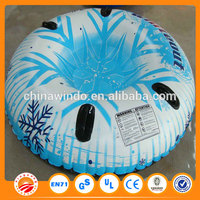 PVC Plastic tyre Oxford bottom wholesale snow sled for adult