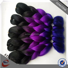 yaki pony hair braiding hair braids two tone HIGH TEMPERATURE jumbo braiding hair 20-40 inch length