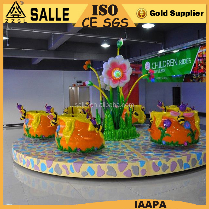 Children fun fair games Indoor amusement park kiddie tea cup rides kiddie electric tea cup ride