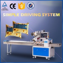 Automatic Flow Pack Machine For Food/Snacks/Candy/Bread