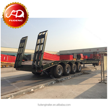 Hot Sale 4 Axles Multi Axle Hydraulic Low Bed Lowboy Trailers 80 Ton