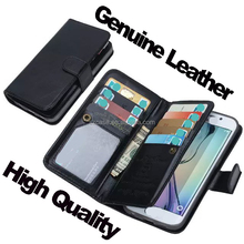 Fashion Monoey Bag Design Genuine Leather Case for iphone 6,Wallet Leather Cell Phone Case for iphone 6 6s