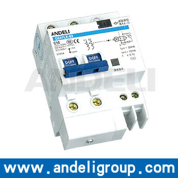 DZ47LE-63 Series Residual Current Operated Circuit Breaker with Over-current Protection