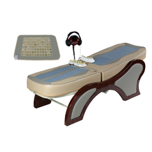 Thermal therapy jade roller massage vibrating motor bed