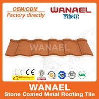 Roman Wanael stone coated metal roof tile/new wave roofing sheet/metal roofing materials