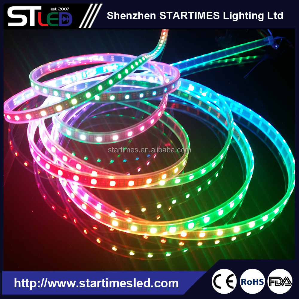 5m 300 LED Digital Strip Light 16.4ft WS2812B Individually Addressable LED pixel 5050 SMD Black PCB Waterproof DC 5V