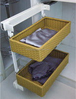 wardrobe soft close PVC storage basket FL213