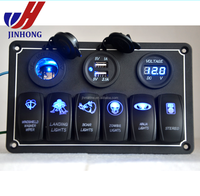 Marine Jeep Boat automotive Rocker Switch Panel with 12V USB Socket
