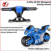 2.4GHz 1/8 4D Dynamic Gravity Sensor High Simulated Controller 180 Drifting RC Motorcycle with light