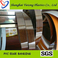 Good quality kitchen cabinet pvc edge banding in high glossy