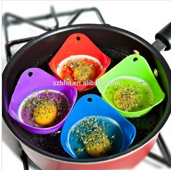 Microwave safe Fda Approved Silicone Egg Poacher