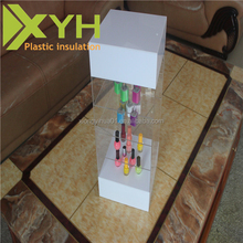 Custom 4-tier Display Stands Cellphone Accessories Wholesale Acrylic Cell Phone Charger/Mobile Charger Display Case
