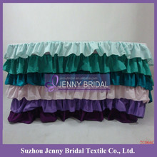 TC066C wholesale fancy custom colorful cotton table cloth