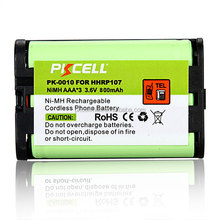 Wholesale AAA rechargeable battery 3.6v NI-MH 800mAh HHR-P107 Cordless phone battery pack