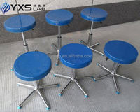 durable metal lab stool with foot ring