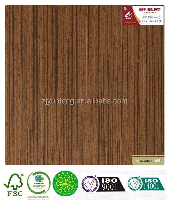 engineered reconstituted wood veneer teak-940Q quarter cut with fleece/paper backed
