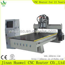 Highest Efficiency Door Processing 3 Head Pneumatic Type ATC Wood Design Machine CNC Router With Cheaper Price