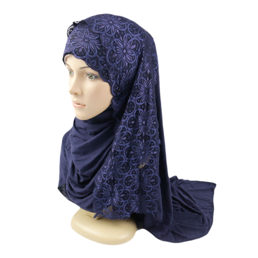 Wholesale Islamic Beaded Lace Fashion Hijab <strong>Scarf</strong>