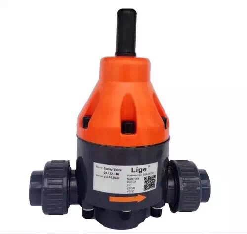 for dosing metering pump pipe pvc pvdf stainless steel stable Back pressure valve