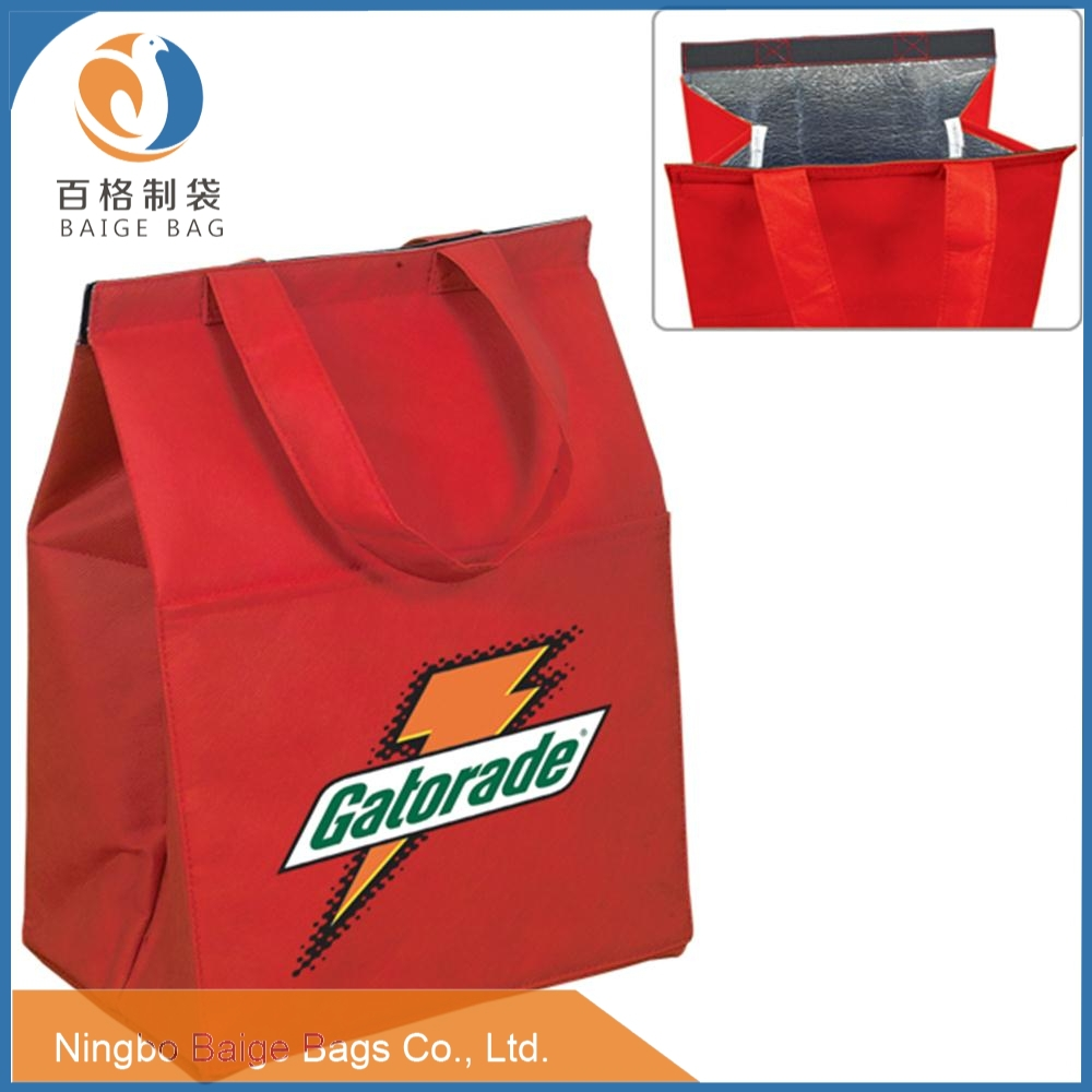 cheap laminated pp woven non woven Rpet aluminum cooler bag thermal bag