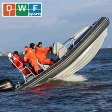 RIB 650 Large Aluminum Rigid Hull Hypalon Inflatable Boat Luxury Yatch for Sale