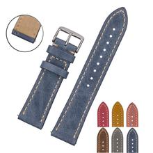 EACHE High Quality Fast Release Spring Bar Crazy horse 18mm 20mm 22mm Leather Quick Release Watch Band/Strap