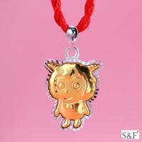 MLQ05 Simple gold chain plated gold silver pendant for child