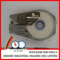 Compatible Camon tape CH-1109W 9mm White label tape cable id label for cable id printer mk2500