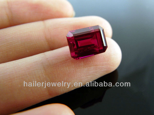 11x9mm Baguette Cut Red Corundum Gems