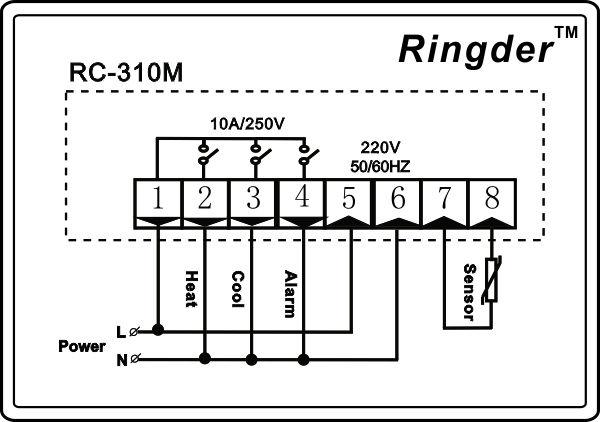 ringder rc-310m digital de temperatura termostato diferencial el precio del controlador