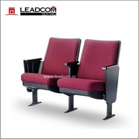 LEADCOM folding venue chair auditorium chair with arms (LS-13601)