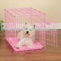 PVC COATED FOLDED DOG CAGE