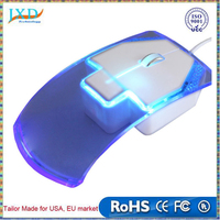 Transparent Led Optical Wired Mouse Light