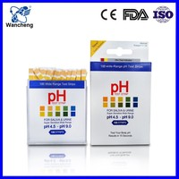 transparent box ph saliva test strip 4.5-9.0 with 10 boxes MOQ