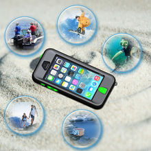New coming mobile phone waterproof case for iphone 4 4s 5 5s 5cwith button