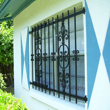 simple modern steel window grills design,factory decorative cheap wrought iron window grill