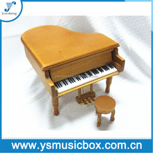 Piano shape Music box wooden music box movements for crafts