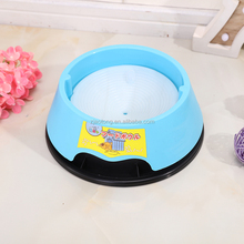 2017 High Quality Eco Friendly Anti Skid Natural Straw Plastic Slow Food Feeder Pet Bowl Dog Bowl