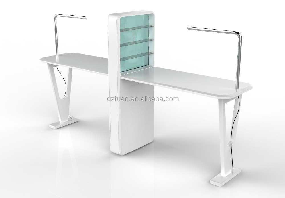 Double manicure table nail salon furniture tkn d105 buy for Nail table and chairs