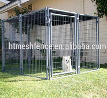 5cm Gap Between Galvanized Bars Safe Pet Dog Runs Panel 5'x10' European Style Outdoor Dog Kennel