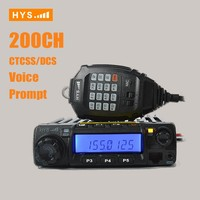 VHF or UHF Dual Band Mobile Car Mounted Two Way Radio