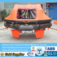 SOLAS rigid type life raft with davit launching for hot sale