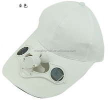 wholesale 6 panel fan caps snapback no need battery solar energy