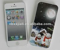 NEW Christmas eve snowman mobile case for iphone 5