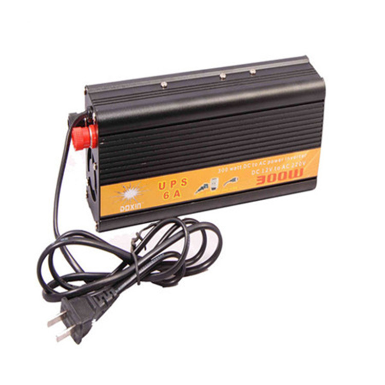 300w modified sine wave inverter 12/24v to 110/220v with UPS and charger 6A