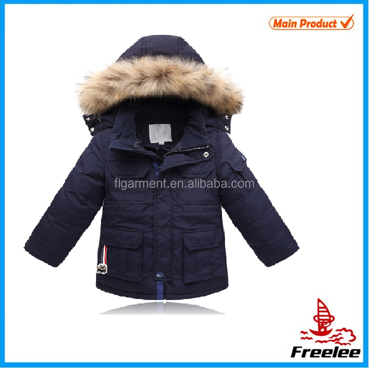 Fur collar coat, clothes kids, army military clothing