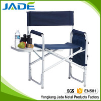 Aluminum new style director chair with cup holder and maganize bags